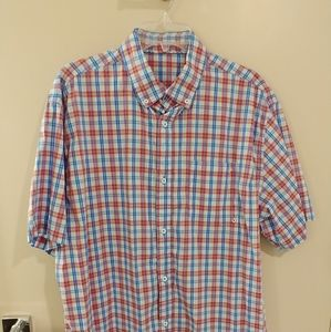 Mens Shirt. Blue & Red Plaid. Size XXL.